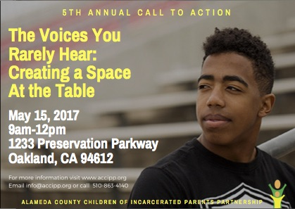 Call to Action: 9am-12pm, May 15, 2017, Preservation Park, Oakland